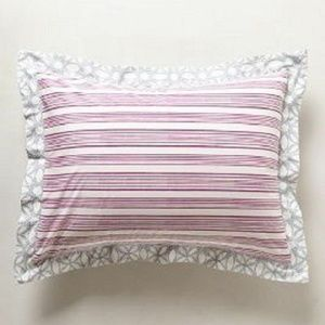 Other - Anthropologie Pillow Shams Queen Striped Mandala